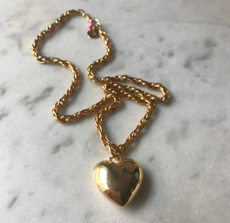 Holy Recycle Collier cœur 80's