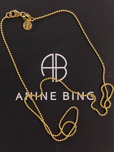 Anine Bing Collier Chaîne Perles or 14k