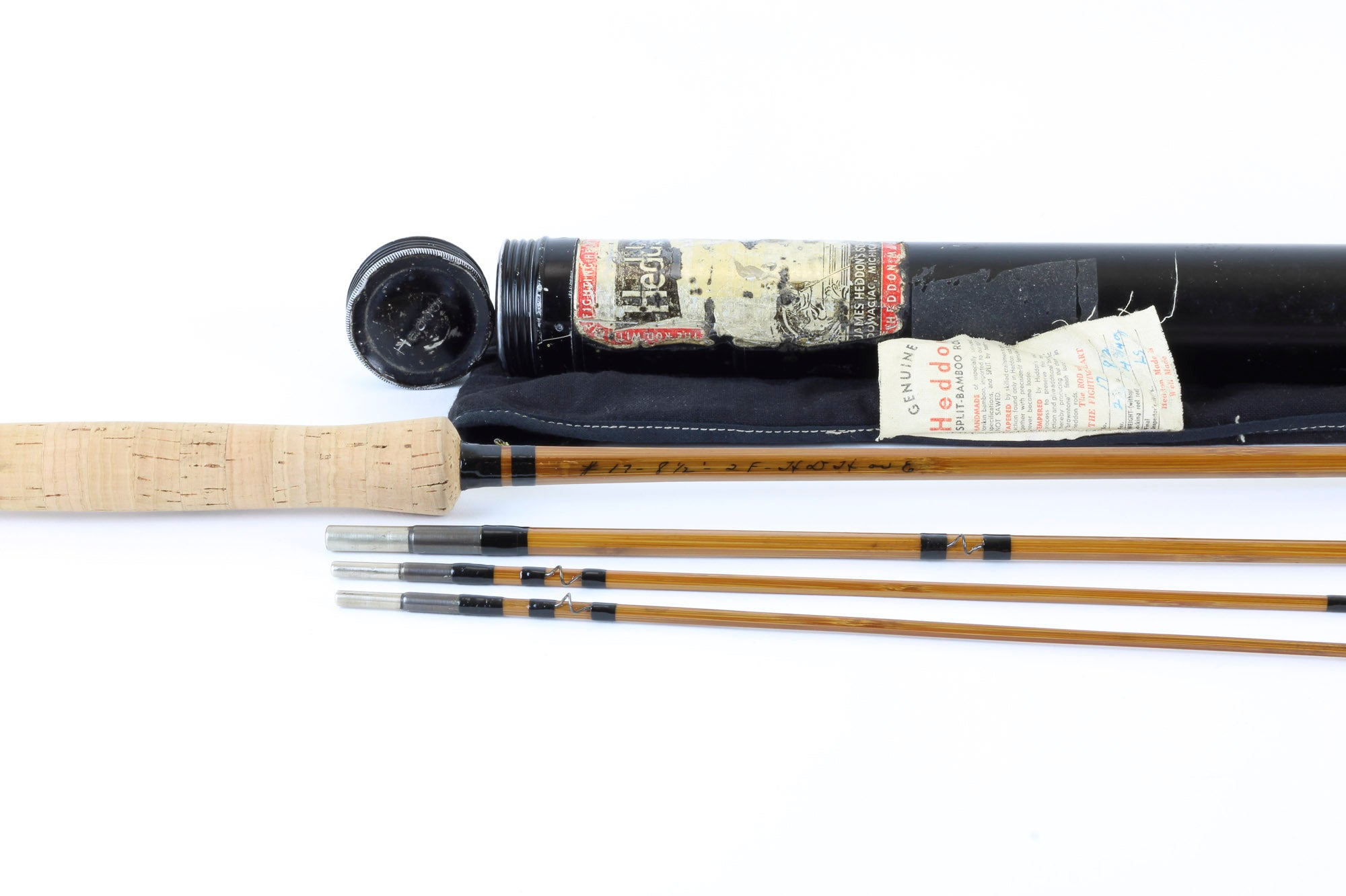 "Heddon - Model #17 ""Black Beauty"" 8'6"" 3/2 Bamboo Fly Rod"
