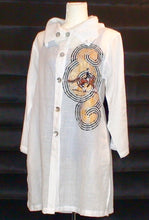 Load image into Gallery viewer, Dressage Jacket - Hand painted on Linen w/ Pockets!