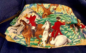 Colorful Exciting Fox Hunt Scene