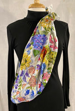 "Load image into Gallery viewer, Frédérique's Provence Design 72"" X 18"" Silk Scarf"