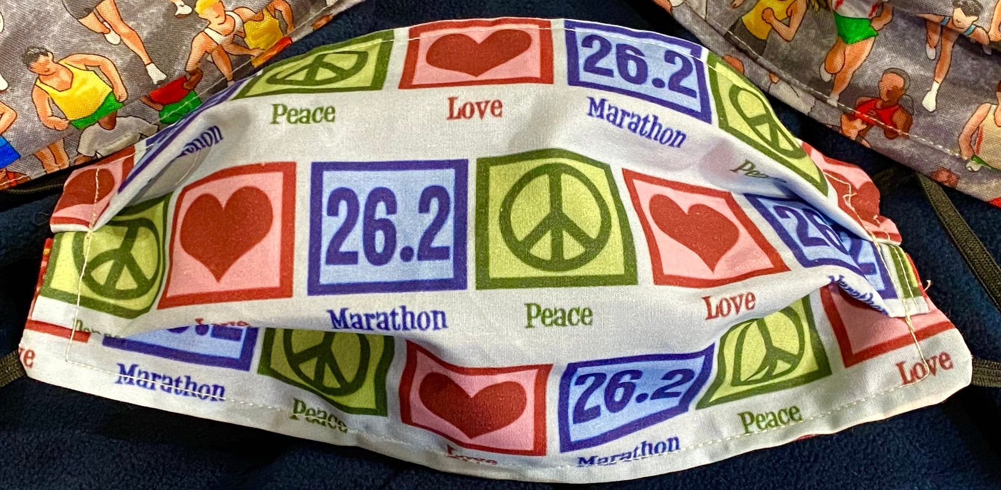 Marathon 26.2 Peace Love Mask. Check Options Below!
