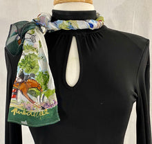"Load image into Gallery viewer, Frédérique's Hunter Jumper Scene Design 72"" X 18"" Modal Fabric Scarf"