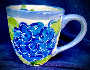 Ceramic Hydrangea Mugs & Tea Cups