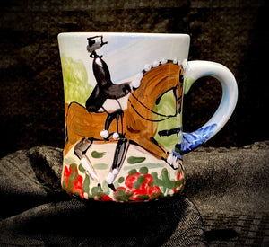 "4.5"" Tall Dressage Flared Mug"