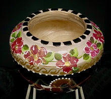 "Load image into Gallery viewer, Versailles Collection - 5"" Dressage Motif Small Walnut Wood Bowl"