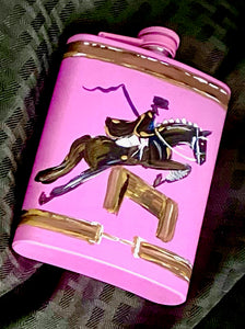 Fox Hunt Hand Painted Flasks!