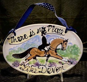 """There's no place like Devon"" hand painted ceramic Plaque"