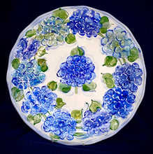 "Load image into Gallery viewer, 16"" Round Scalloped Server - Italian Pottery"