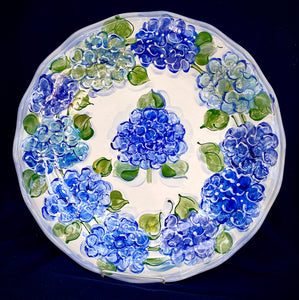 "16"" Round Scalloped Server - Italian Pottery"