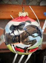 "Load image into Gallery viewer, Christmas Holiday Ornaments - Equestrian Hand Painted Ceramic ornaments available in 2.5"", 3"" & 3.5"""