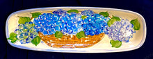 "Load image into Gallery viewer, 18"" X 6"" Ceramic Hydrangea Bread Tray"