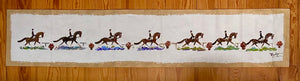 "Dressage Table Runner 80"" X 16"" with Gold Trim"