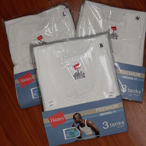Hanes Premium Tanks (Sleeveless Vests) - Pack of 3