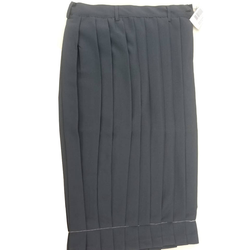 Dark Grey Secondary School Pleated Skirt