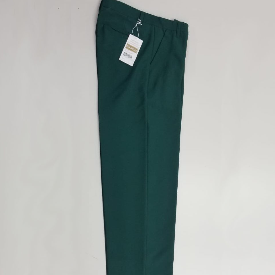 Green Long School Pants