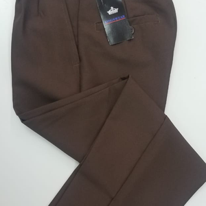 Brown Long School Pants