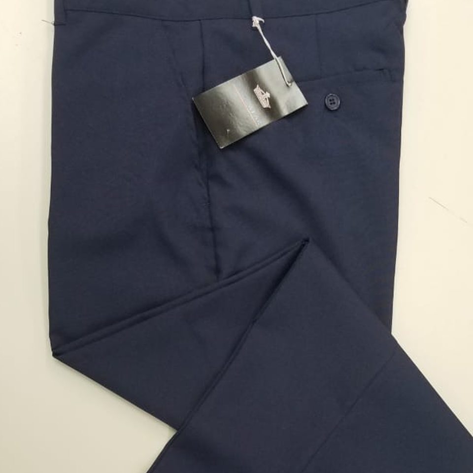 Navy Blue Long School Pants