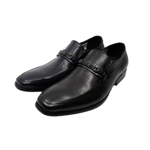 Mr. Jones - Black Leather Dress Shoe - Moss