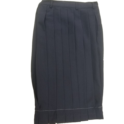 Navy Blue Secondary School Pleated Skirt