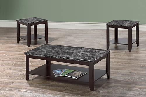 BCI0300 3 PIECE COFFEE TABLE SET WITH SHELF