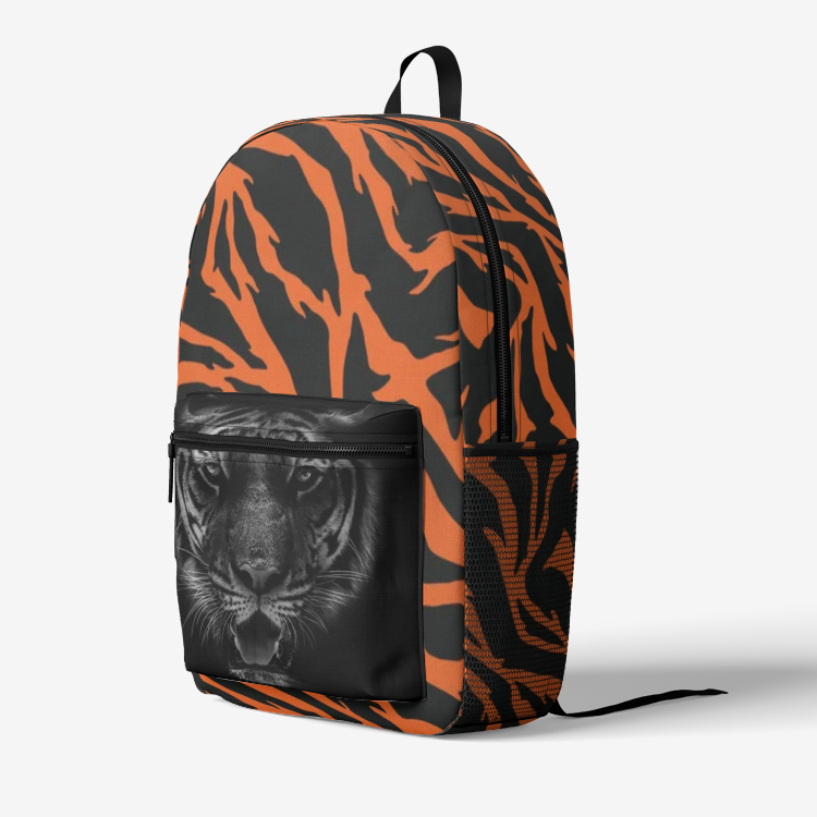 Retro Colorful Print Trendy Backpack Tiger
