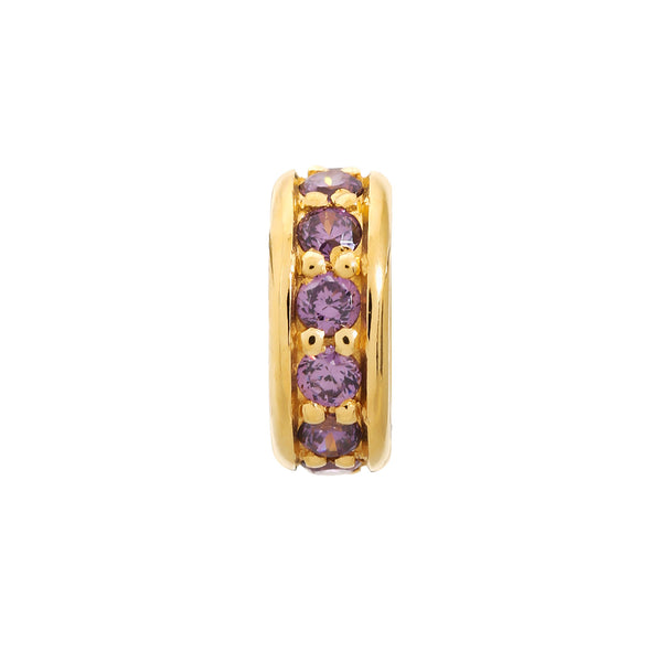 Amethyst Dreamy Dot Gold
