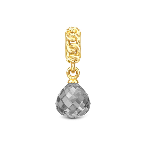 Grey Crystal Chain Drop