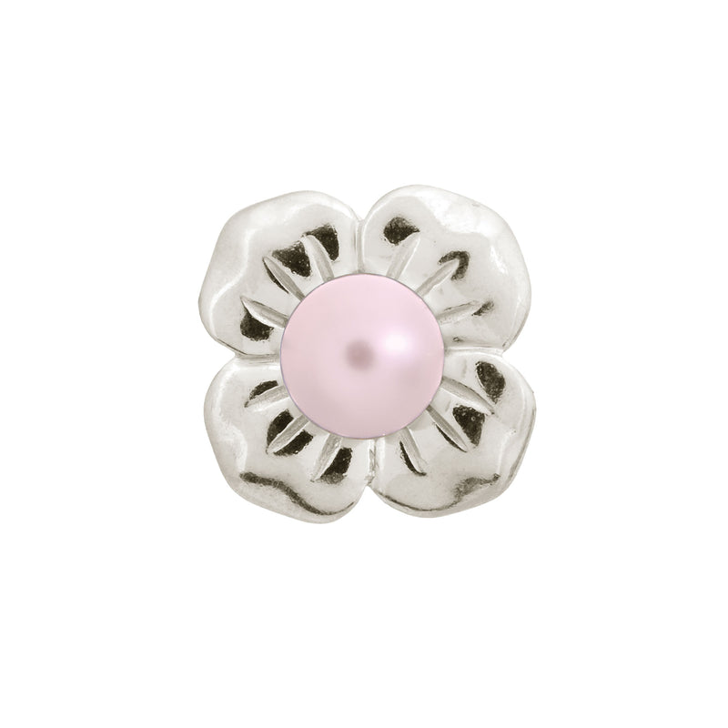 Big Rose Pearl Flower Silver - Endless Nordic