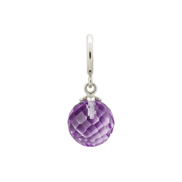 Amethyst love drop silver - Endless Nordic