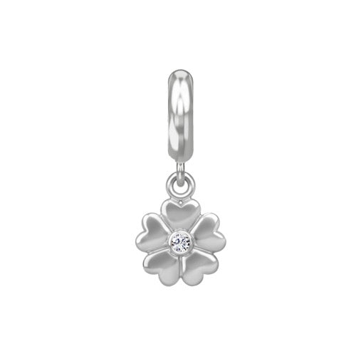 Heart Flower Drop Silver - Endless Nordic