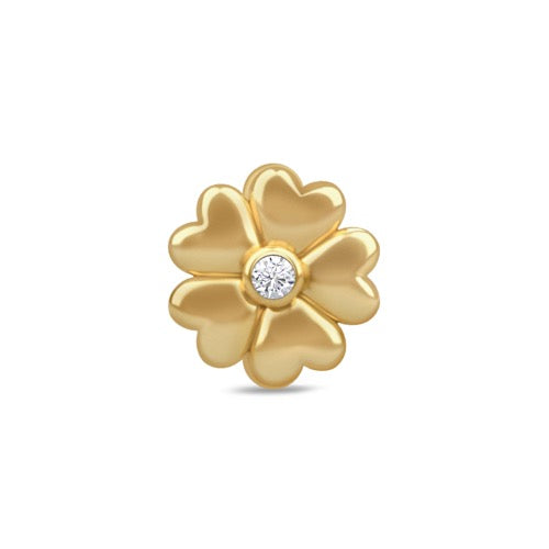 White Heart Flower Gold - Endless Nordic