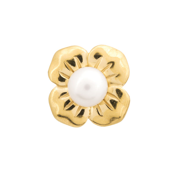 Big White Pearl Flower Gold - Endless Nordic