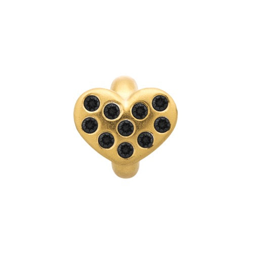 Black Heart of Love Gold - Endless Nordic