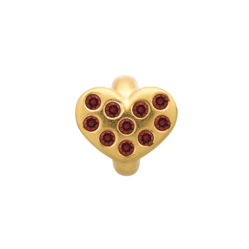Garnet Heart of Love Gold - Endless Nordic