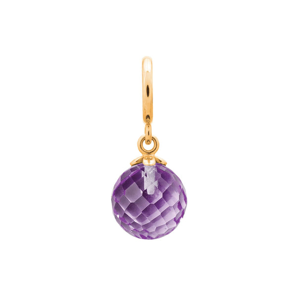 Amethyst Love Drop Gold - Endless Nordic