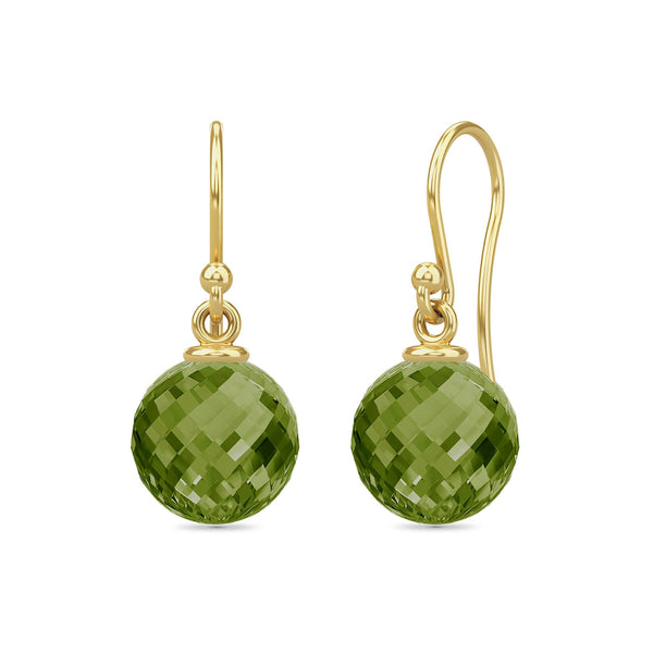 Dark Peridot Love Drop - Gold