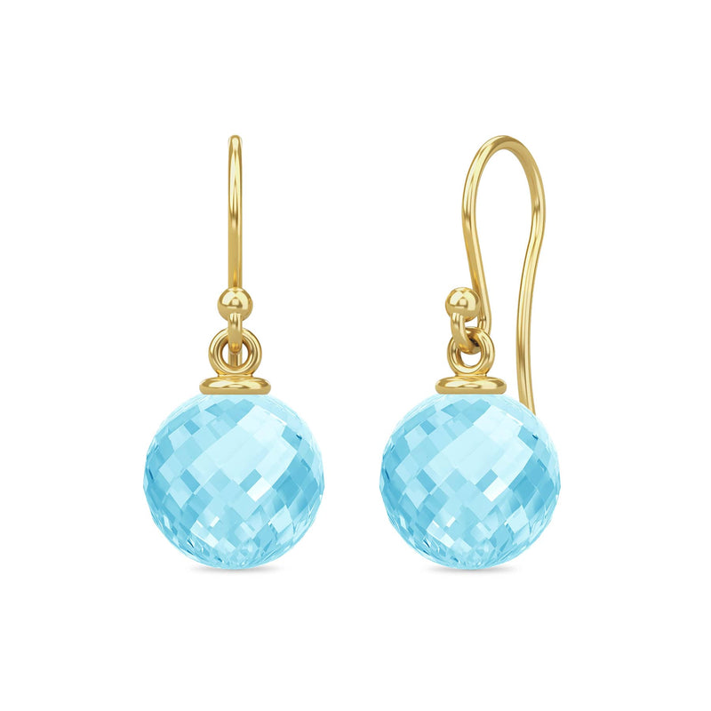 Sky Blue Love Drop - Gold