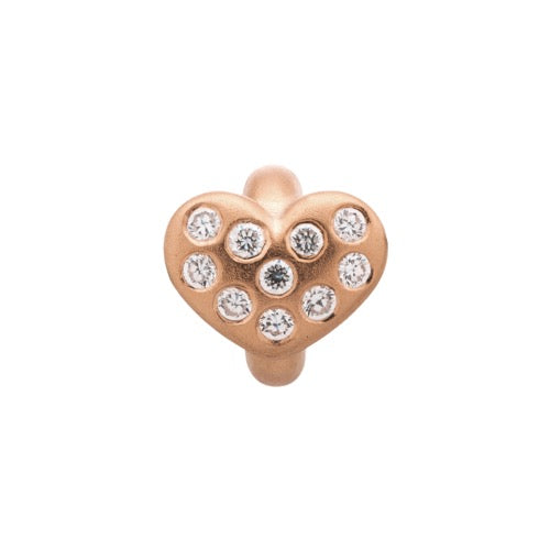 White Heart of Love Rose Gold - Endless Nordic