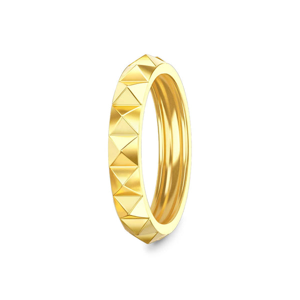 Rising Cube Ring Gold
