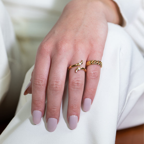 Twisted Claw Ring Gold