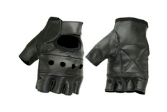 Men's Lightweight Leather Motorcycle Gloves