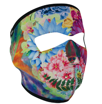 WNFM182 ZAN® Full Mask- Neoprene- Flower Skull [50% Off]