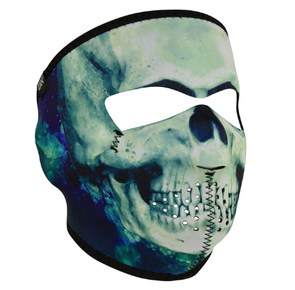 WNFM414 ZAN® Full Mask- Neoprene- Paint Skull [50% Off]