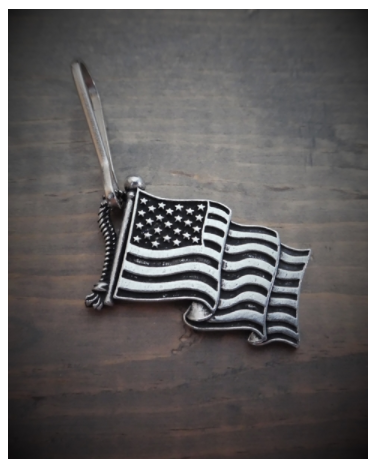BZP-27 US Flag Zipper Pull [50% Off]