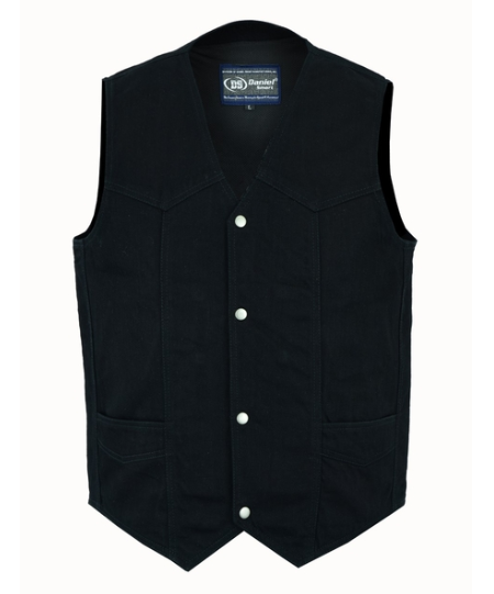 Men's Traditional Denim Vest With Plain Sides [50% Off]