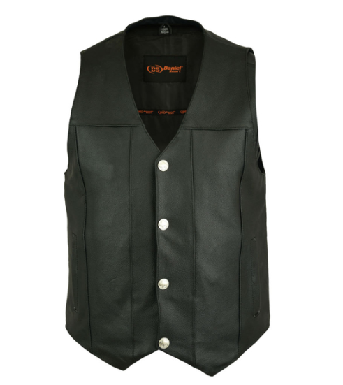 Men's Single Back Panel Concealed Carry Vest (Buffalo Nickel Head Snaps) [50% Off]