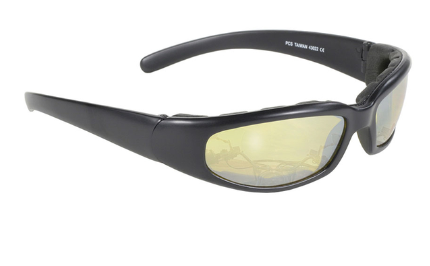 43022 Rally Wrap Padded BLK Frame/yellow Lens [50% Off]