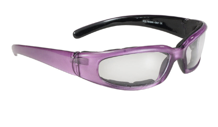 43027 rally wrap padded blk frame/purple pearl/clear lens [50% off]